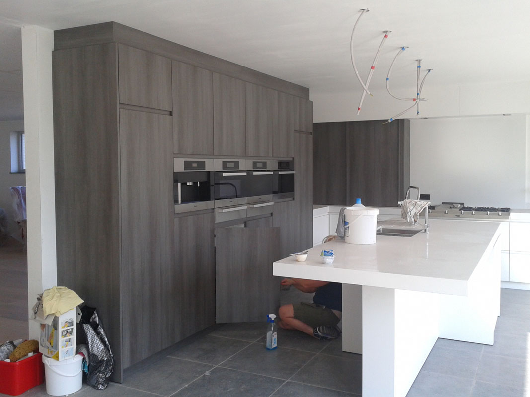Keuken Kasten Melamine : Keukens op maat fl interieur evergem